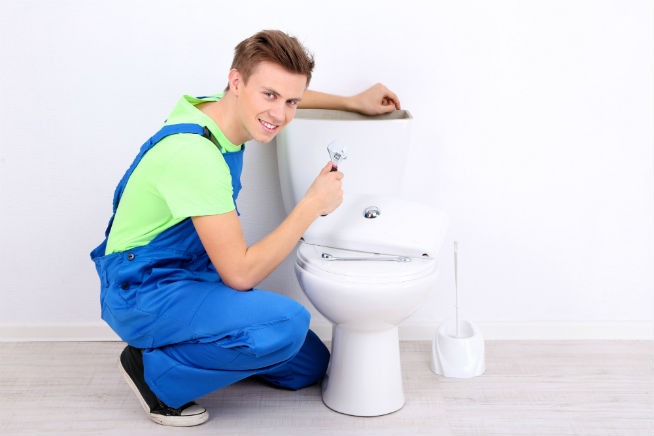 clogged toilet plumber