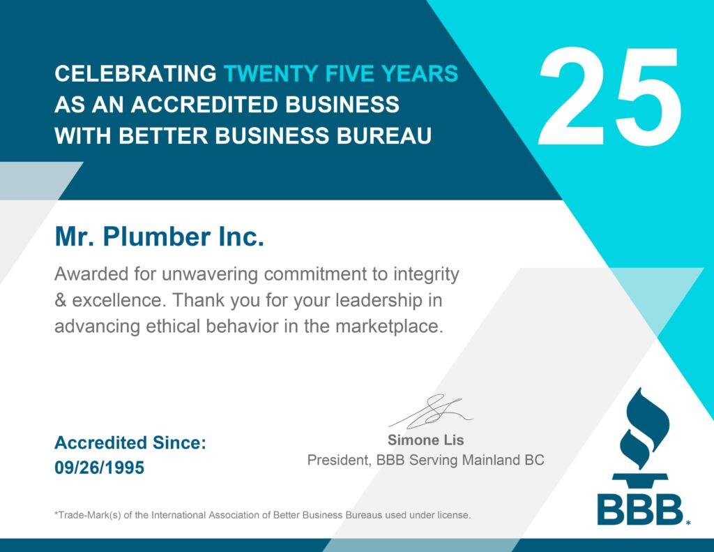 Better business bureau certificate of excellence
